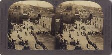 Bethléem Palestine Israël Photo Stereo Stereoview Papier argentique Vintage