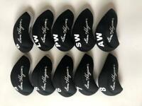 10PCS Golf Iron Headcovers for Ben Hogan Club Head Covers 4-LW Black&Black Sets