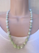 Precious Stones Bead Necklace & Pouch New Lola Rose Very Plale Green Multi Semi