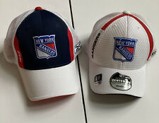 New ListingNew 2 New York Rangers Nhl Reebok Fitted Center Ice Hat Cap Blue Red White S/M