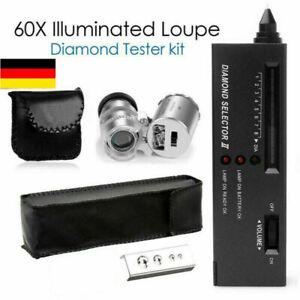 Tragbare Diamant Tester II V2 Selektor Edelstein Juwel Schmuck Gems Werkzeug DE