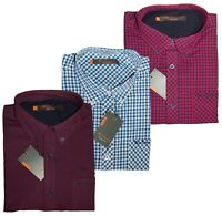 Ben Sherman New Mens Shirt Check Pattern Gingham Embroidered Logo on Pocket BNWT