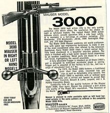 1973 small Print Ad of Mauser Bauer Model 3000 Bolt Action Rifle