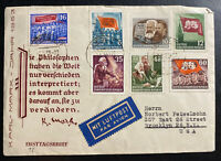 1953 Leipzig DDR East Germany First Day Cover To Brooklyn NY USA Karl Marx