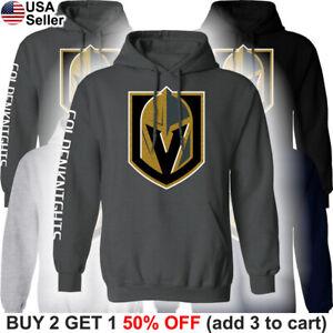 Las Vegas Golden Knights Hooded Sweatshirt Logo Sweater Shirt Hoodie LVGK VGK