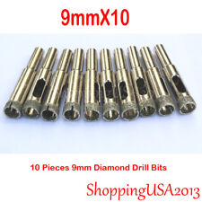 10X 9mm Diamond Drill Bit Set Hole Saw Cutter Tool Glass Marble Porcelain@@