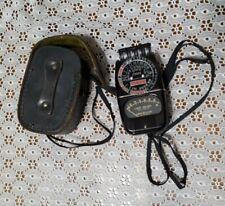 Vintage GE General Electric Exposure Light Meter 8DW 58Y1 w/ Leather Case