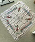 Vintage 1940s or 50s Pink Hawaii 38 inch square Souvenir tablecloth with map