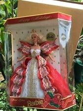 Barbie RARE 1997 Happy Holiday Barbie Blond DOLL CLUB EXCLUSIVE MINT Sealed