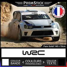 Stickers Pare Soleil WRC Rallye ; Auto Autocollant Voiture Racing