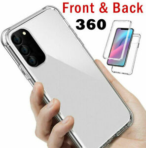 360 FRONT & BACK CLEAR Case For Samsung A71 A40 A51 A91 A21S Cover Shockproof