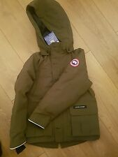 Genuine Canada Goose Vernon parka Jacket boys age 7/8  Khaki green  *BRAND NEW*
