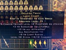 Diablo 2 Resurrected D2R Softcore PC - Barbarian Torch 19 Att / 11 Resist