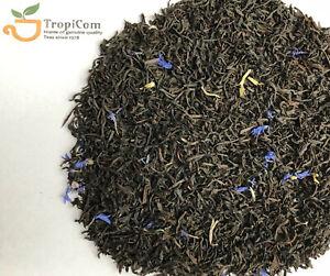 Premium Earl Grey Blue - Quality Ceylon Black loose leaf Tea - from UK importer