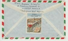 Stamps Angola 1961 various issues airmail cover OPORTO wines Cinderella label