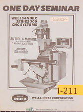 Wells Index Series 700 CNC Systems Seminar Manual