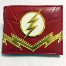 DC Superhero The Flash BIfold Wallet Coin Purse 3D Logo Cool Gift