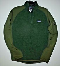 Patagonia Snap 1/4 Fleece Pullover Jacket Mens Small Olive Green