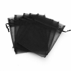 50/100/200/500 Organza Wedding Party Favor Gift Candy Sheer Bags Jewelry Pouch