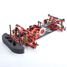 1/10 4WD G4 RC Car Drift Racing Red Frame Kit Alloy&Carbon Fiber Chassis 078055R