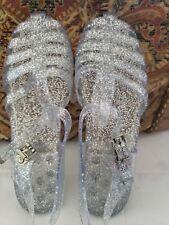 Women's Glitter Jelly Slingback Strappy Sandals Sz 8