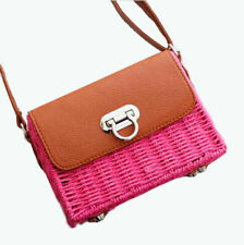 Women Small Straw Crossbody Bag Wicker Shoulder Bag Rattan Bag Vintage Satchel