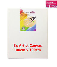 3 x Blank Artist Canvas Bulk Lots Wholesale Art Painting 100x100cmx37mm YW