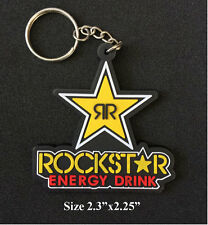 "Rockstar Energey 2.25"" Keyring Keychain Motorcycle Bike Collectible Gift"