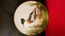"Danbury Mint 12 Waterbird Plates "" Red Breasted Merganser "" Plate 9 1/2""d"