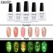 Elite99 Luminous Rose Gold Gel Varnish Glow In The Dark Semi Permanent Nail NEW