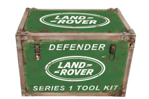 1 Landrover Land Rover Metal Storage Chest Trunk Retro Vintage Large Tool Box
