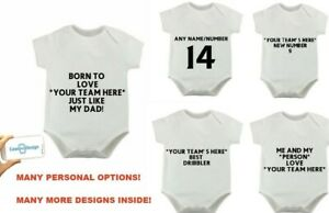 QPR PERSONAL FOOTBALL BABYGROW DADDY SON GRANDAD NAME NUMBER 3 6 9 Months