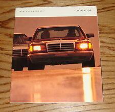 Original 1987 Mercedes-Benz Full Line Sales Brochure 87 S-Class 190 300
