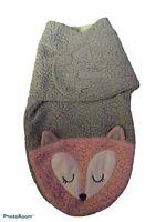 Chick Pea Sherpa Warm Fuzzy Fox Swaddle Bunting Wrap 0-3 m Infant Sleep Sack