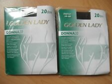 LOT DE 2 COLLANTS GOLDEN LADY 20 DEN TAILLE 46-48