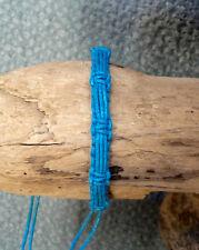 Armband Freundschaftarmband Armreif Baumwolle Türkis Geflochten Verstellbar