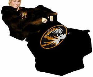 University of Missouri Mizzou Tigers Comfy Throw - The Blanket With Sleeves