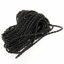 9m Black Braided Leather Necklace Cord String DIY 3mm HOT SS