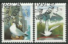 Echte Briefmarken mit Vögel-Motiven aus Dänemark