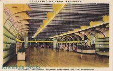Postcard Ship Coloramic Rainbow Ballroom Steamer President Mississippi