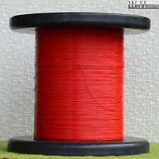 """1000m Red 7/0.05 Stranded Ultra slim cable Dia. 0.28mm 0.011"""" Wires"""