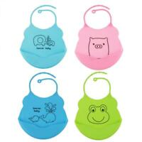 Newborn Toddler Baby Infants Kids Cute Silicone Bibs Daily Lunch Cute Waterproof