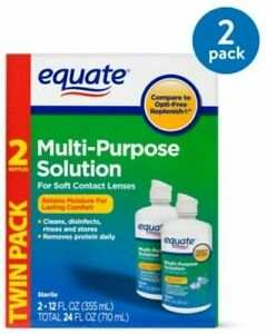EQUATE 630026 Multi-Purpose Contact Lenses Solution 355ml - 2 Pack