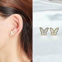 Cute Wings Butterfly Earrings Stud Gold Charm Women Wedding Fashion Jewelry Gift
