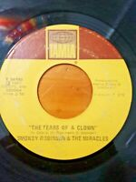 "Smokey Robinson & The Miracles ~ The Tears Of A Clown 7"" 45 RPM Tamla T 54199"