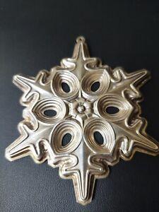 VTG 1991 Sterling Silver 925S Snowflake Christmas Ornament Gorham