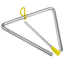 "6"" Metal Musical Triangle and Beater Percussion Instrument Silver Music Toy"