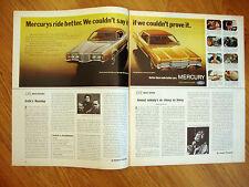 1972 Mercury Montego MX & Marquis  Brougham Ad