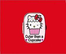 HELLO CUPCAKE KITTY CAT KAWAII METAL PILL MINT BOX CASE