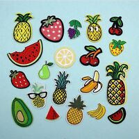 1/8Pcs Jeans T - Shirt Fruits Embroidered Applique Sewing Patch Sew/Iron On